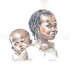 jeune fille avec enfant